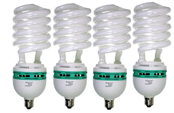 Alzo 85w Cfl Video Lux Photo Light Bulb 5600k 4250 Lumens 120v Pack Of 4 Photography Light Bulbs Fluorescent Light Bulb Photo Lighting