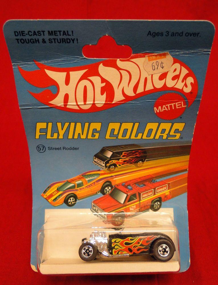 Vintage 1975 Hot Wheels Flying Colors 57 Street Rodder Toy