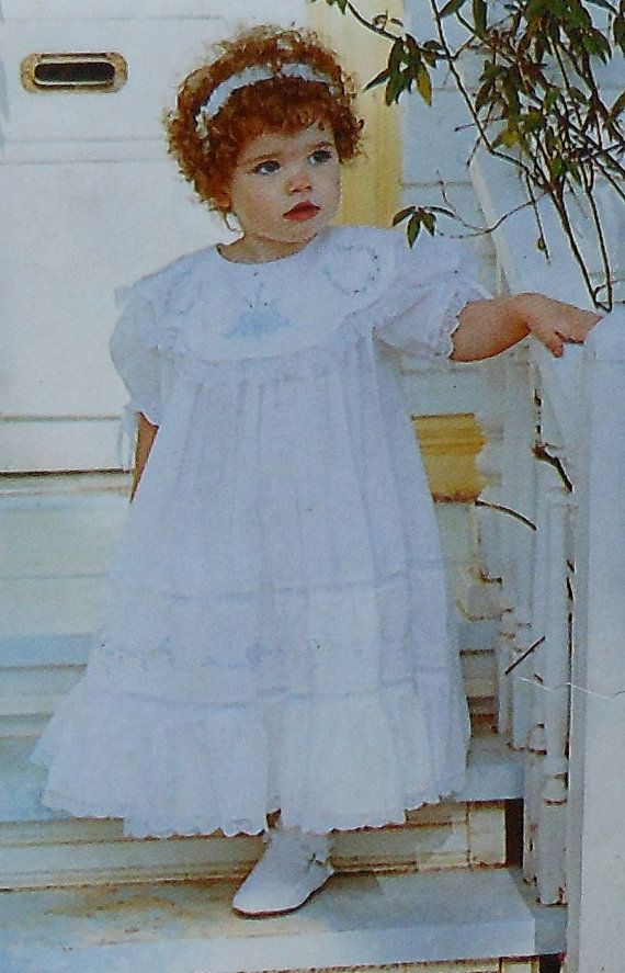 Baby Heirloom Dress Sewing Pattern UNCUT Angel Threads F101 Sizes 3m ...