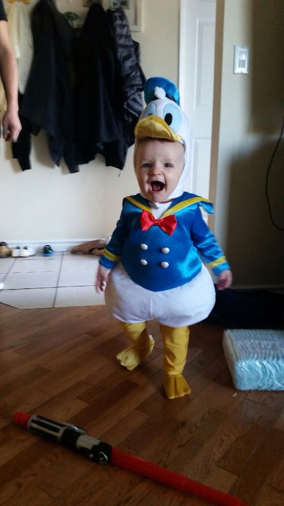 The cutest Donald Duck I have ever seen. Baby Halloween costume. Carson  would look so cute in this! 0bfdfe8eeafc