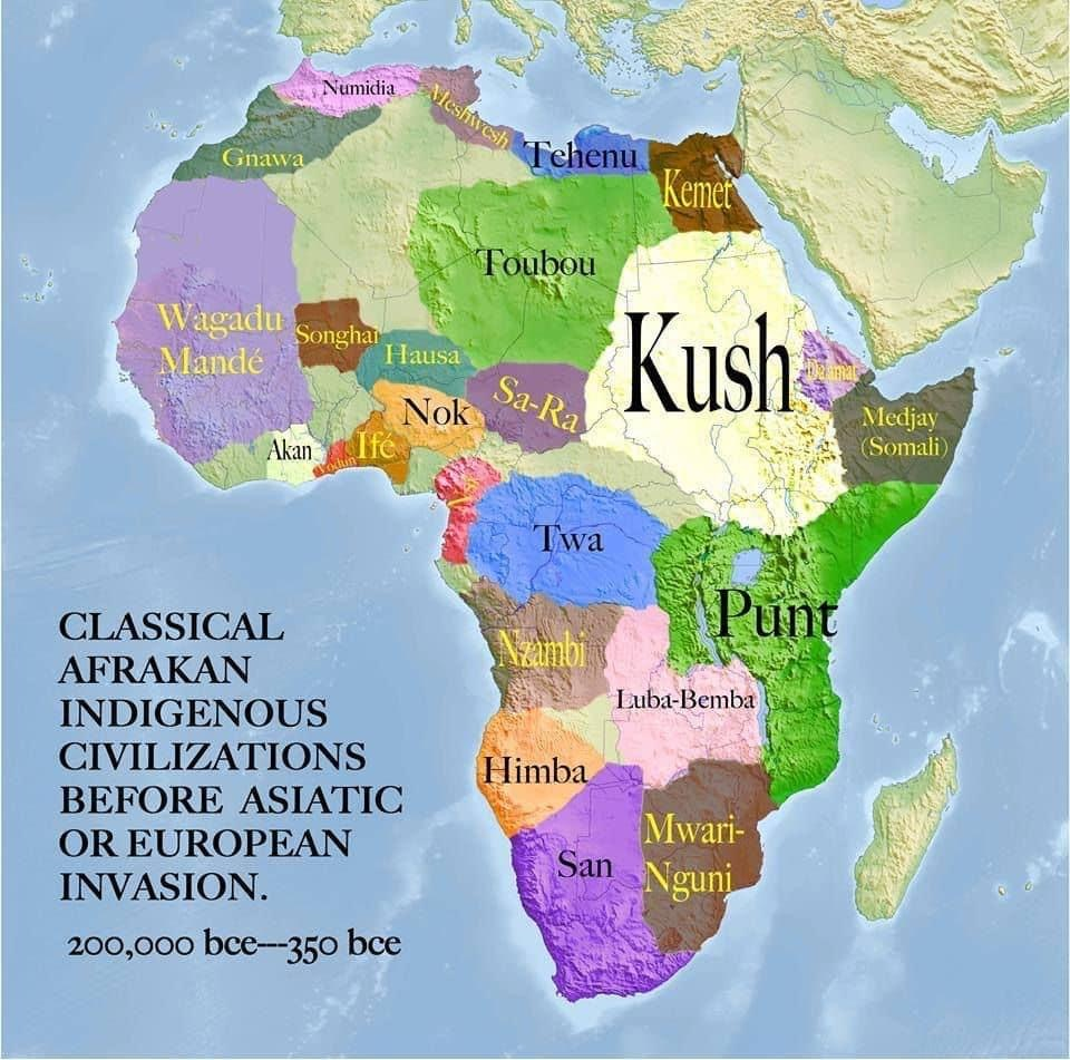 The ancient name for Africa was Alkebulan meaning