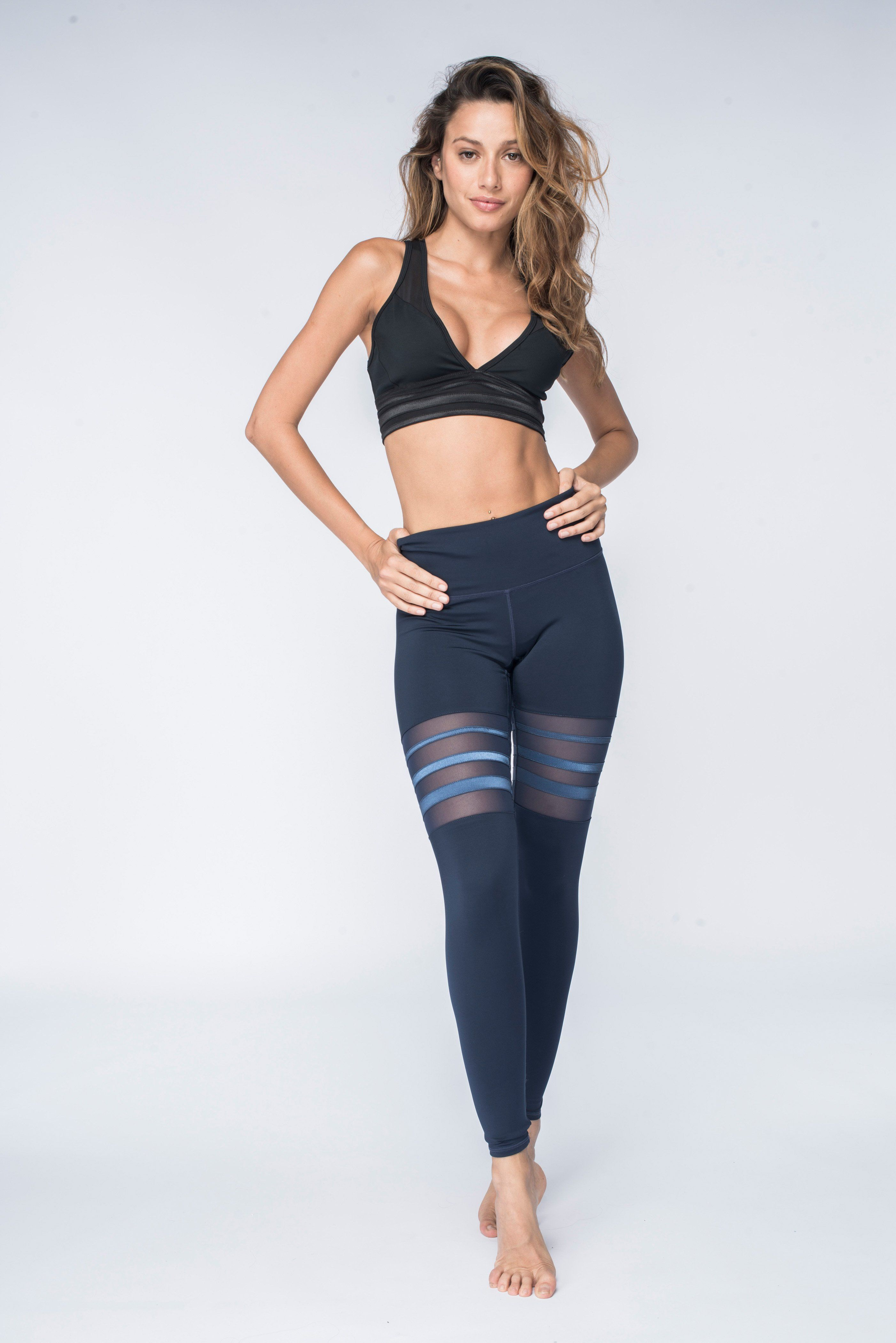 3b669232ff3ec Mesh thigh panel and tapering sized satin tapes give the illusion of length  to the leg while creating an elevated   sporty look! - Pair with our  Almansa Bra ...