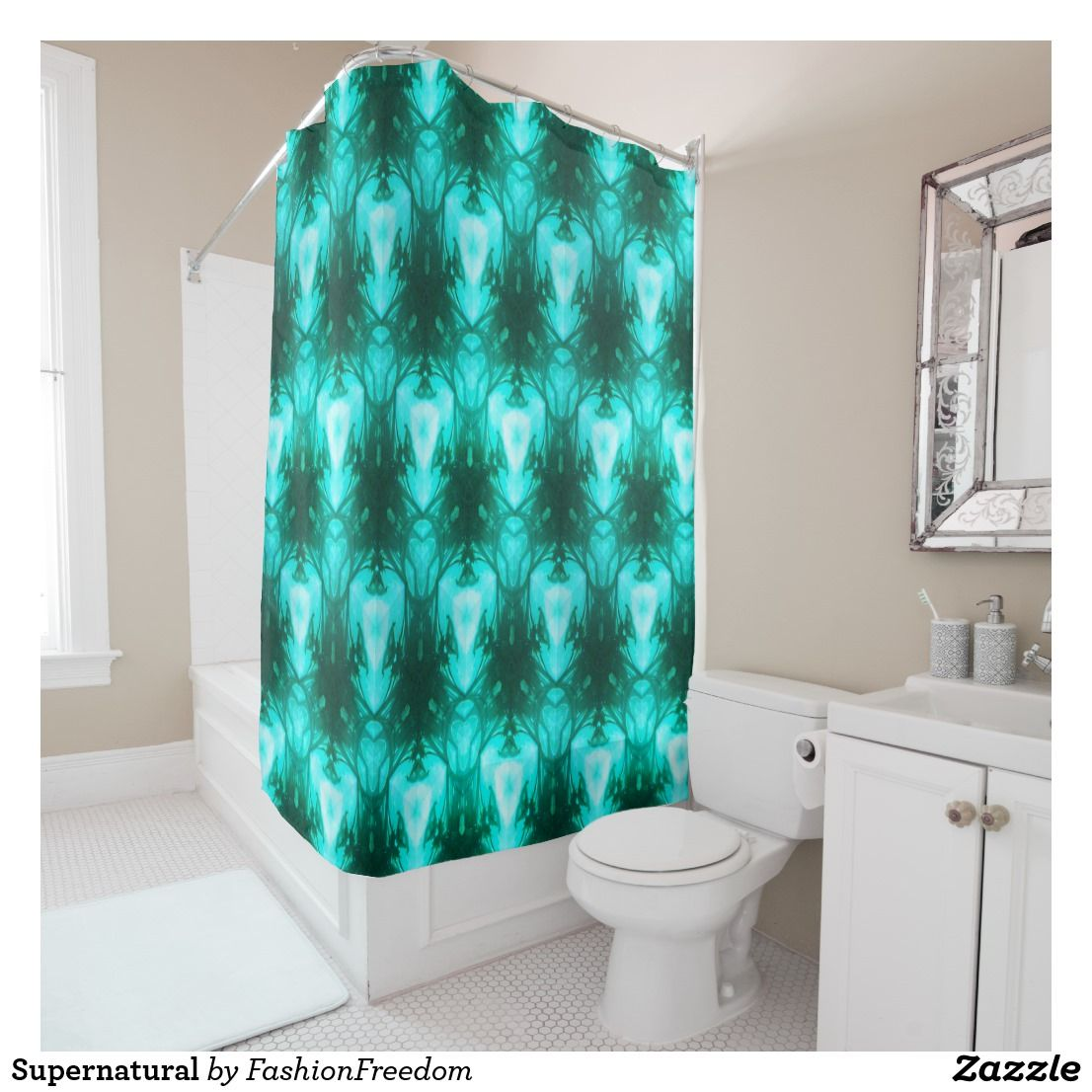 Supernatural Shower Curtain Zazzle Com With Images Rainbow