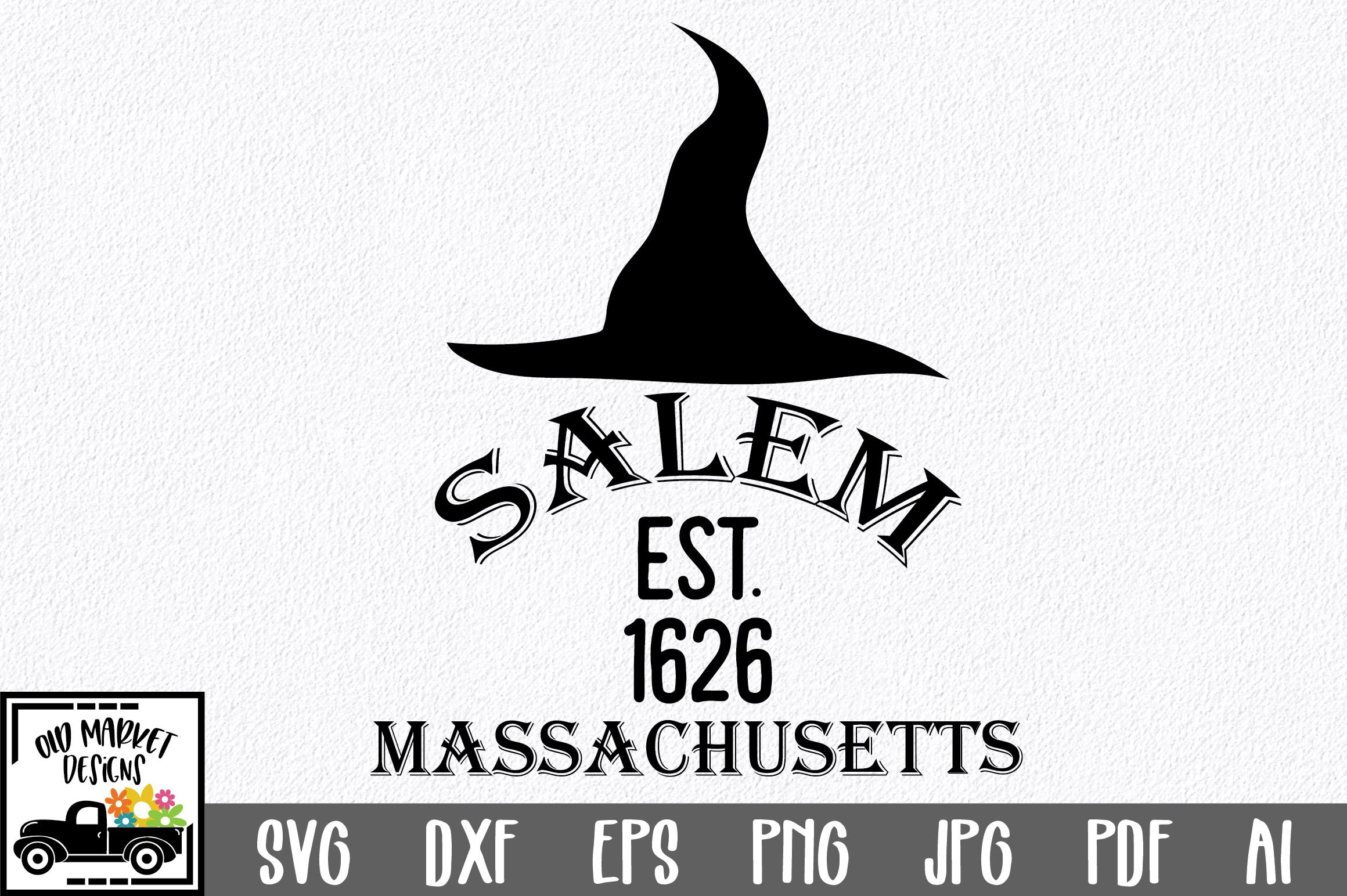 Salem Massachusetts (Graphic) by oldmarketdesigns