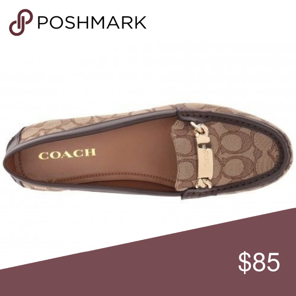 02385e73a6bb NWOB Coach Olive Loafer Khaki Chestnut Signature C This item is BRAND  NEW--never worn
