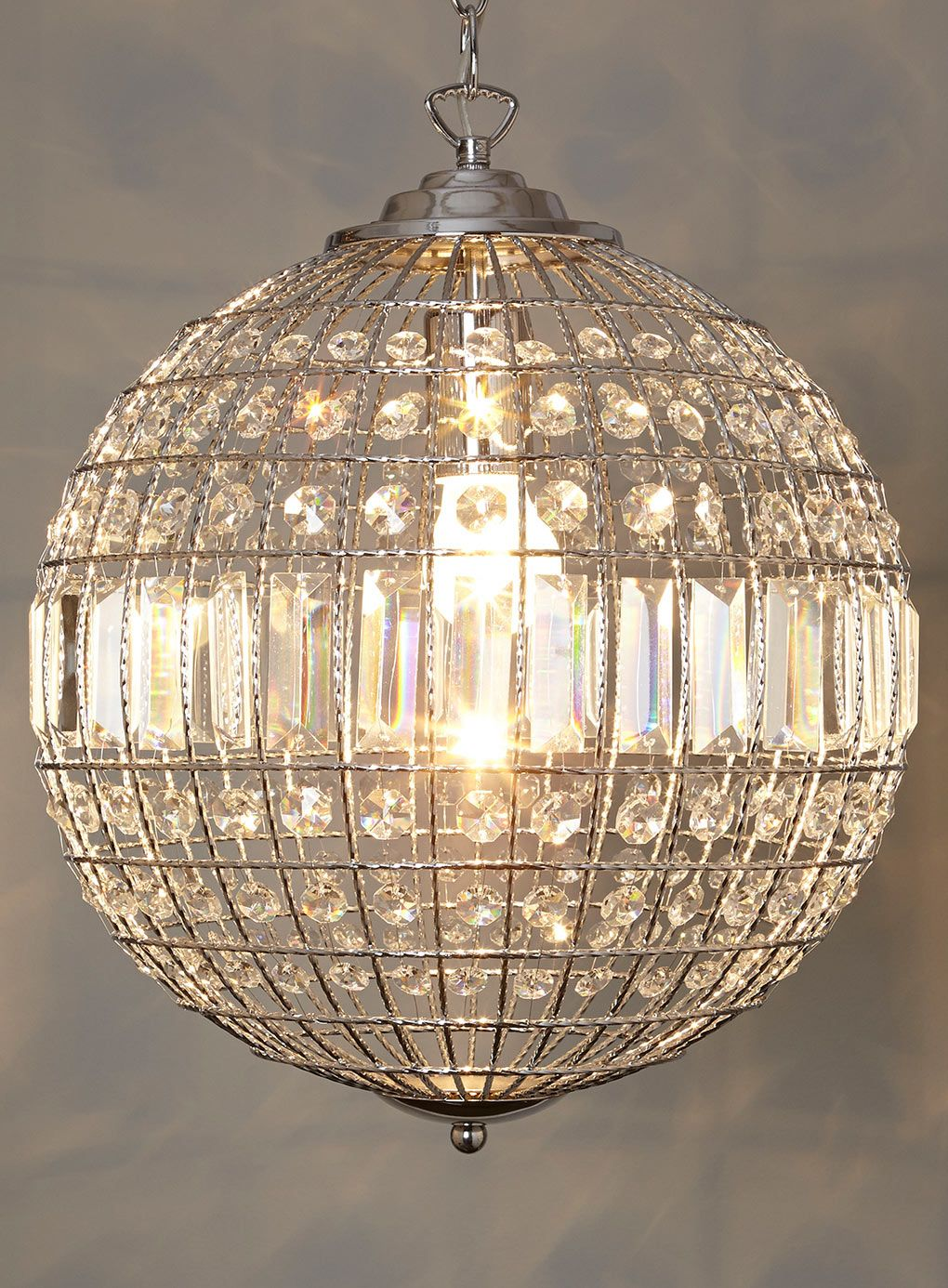 Ursula small crystal ball pendant - Lighting Event - Home, Lighting u0026  Furniture - BHS