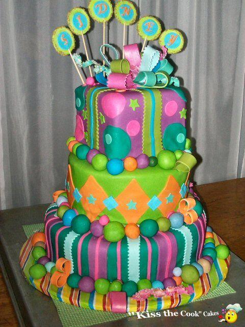 Fun cake Cake Cake Cake Pinterest Fondant birthday cakes