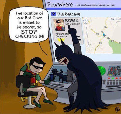 Humor de las redes sociales. Foursquare