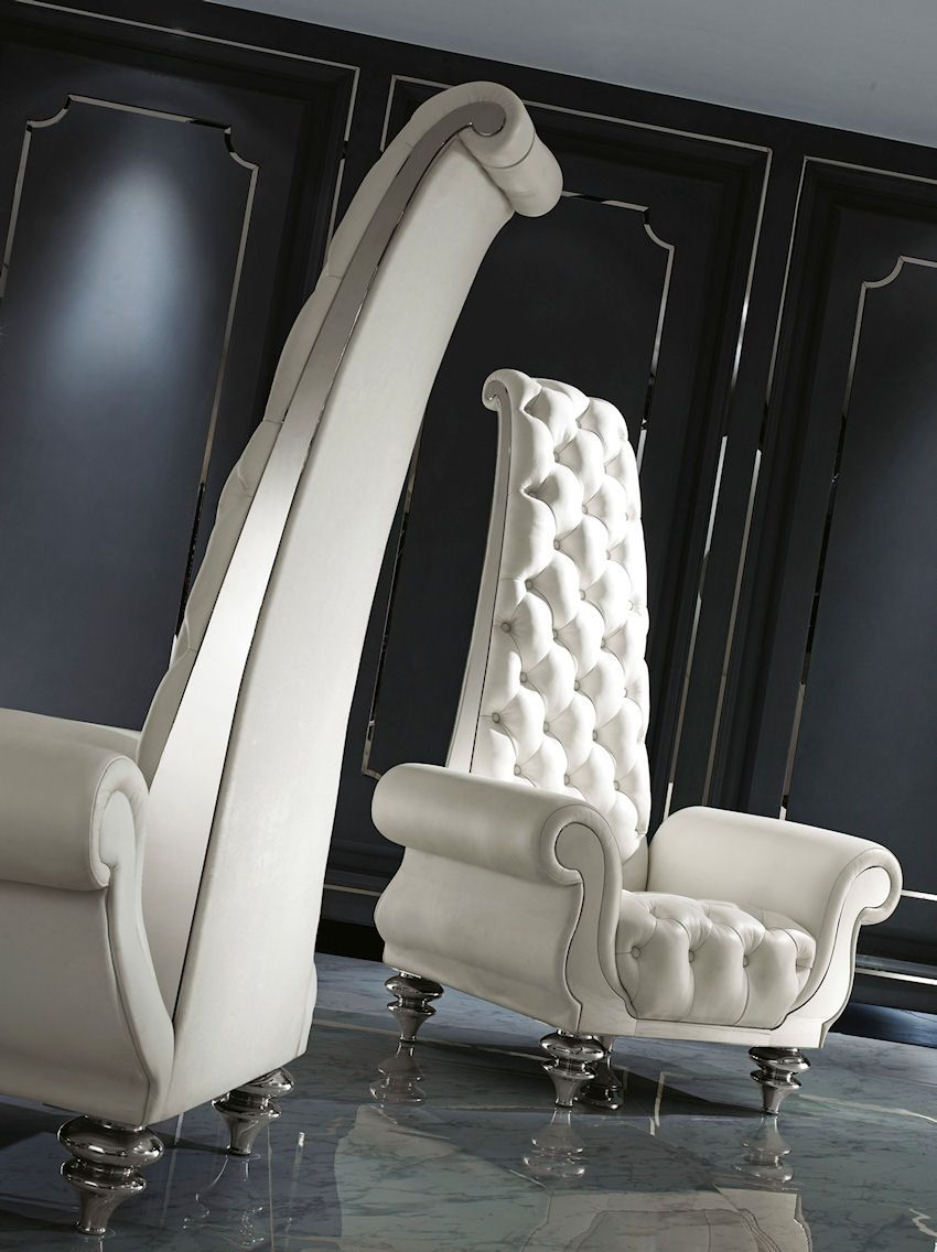 BAROQUE HIGH BACK CHAIR Amazing White Modern Baroque High Back Chair