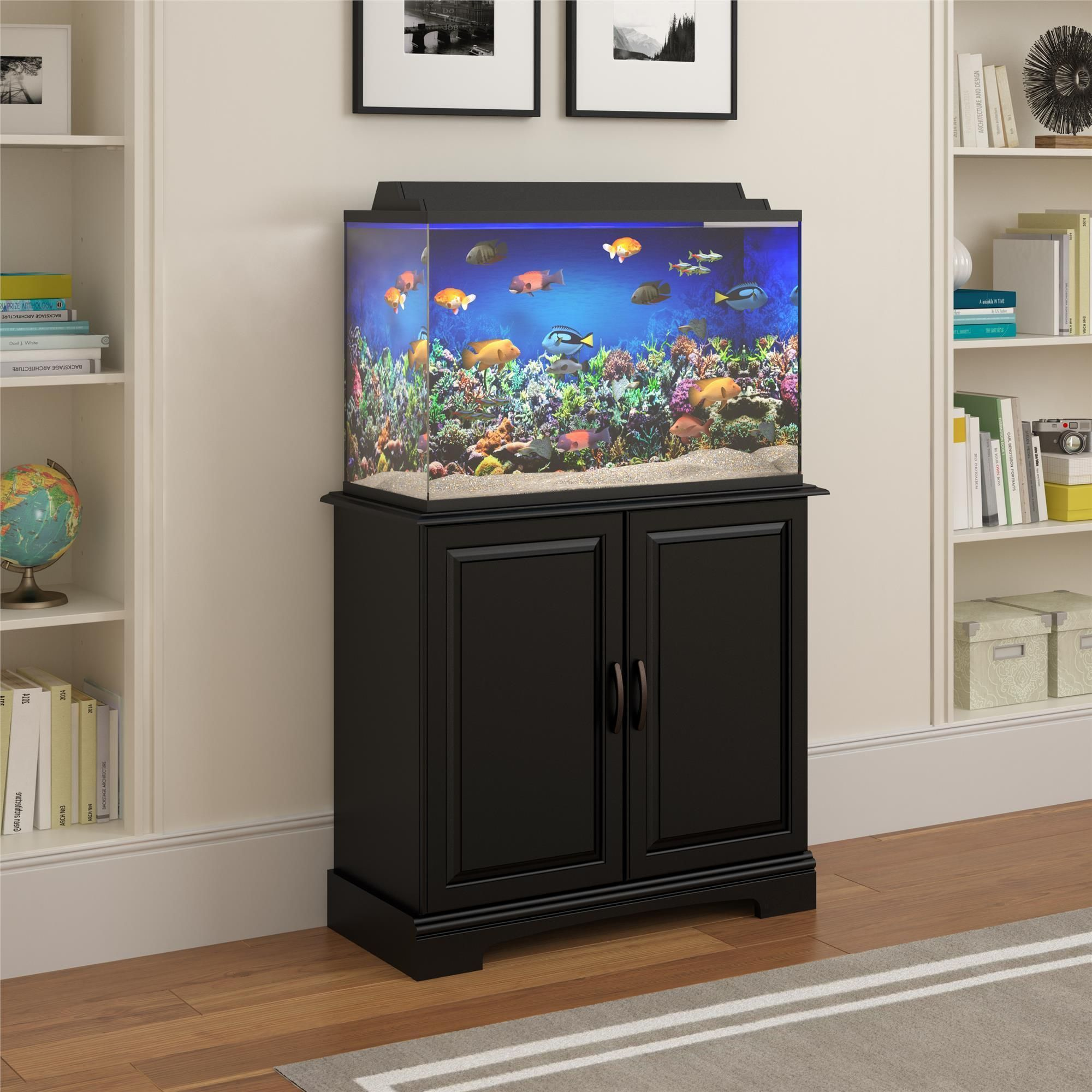 Ameriwood Home Altra Harbor 29 37 Gallon Aquarium Cabinet