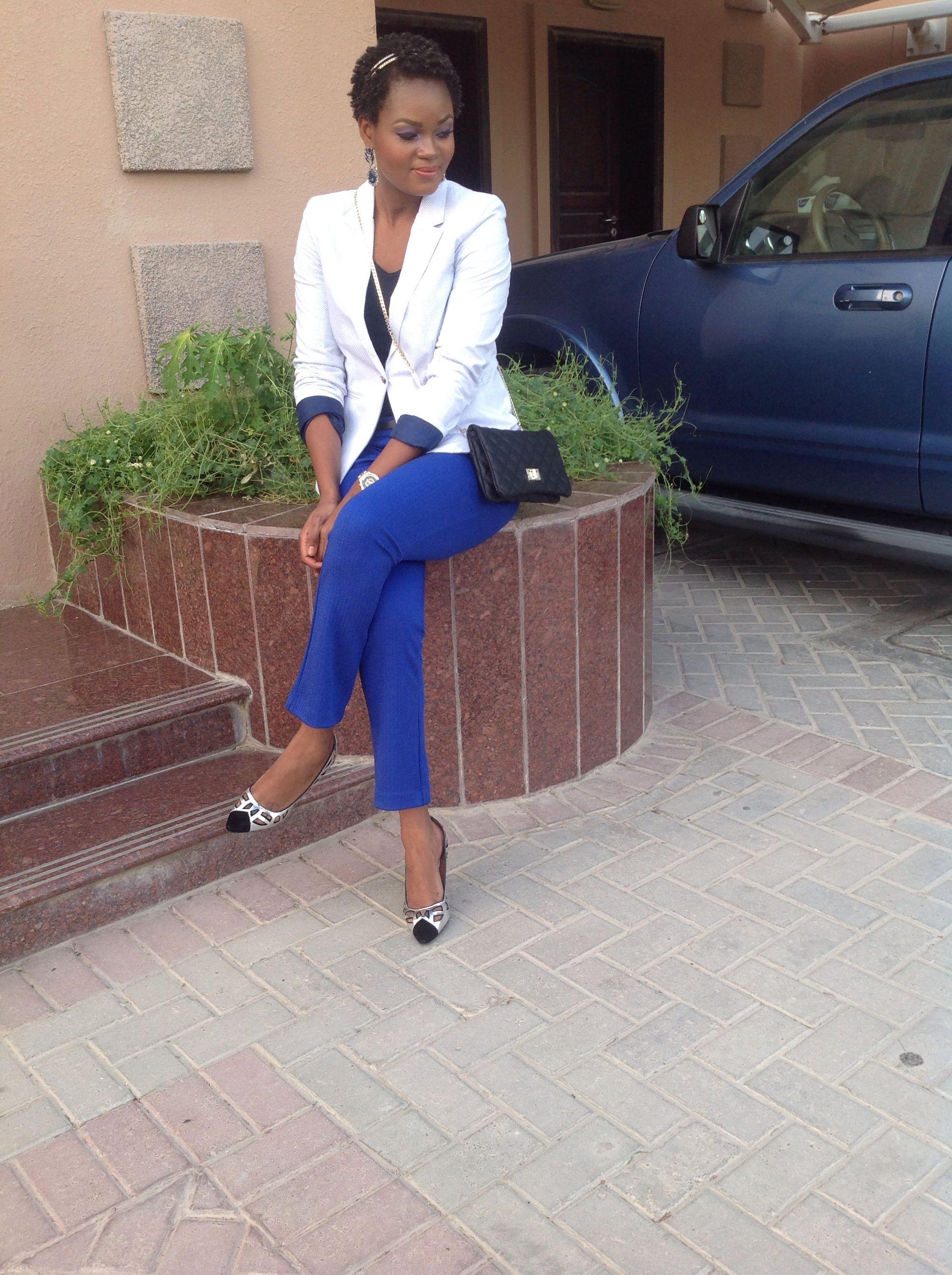 #cabeloNatural #fashion #maquiagem  Azul cobalto+blazer