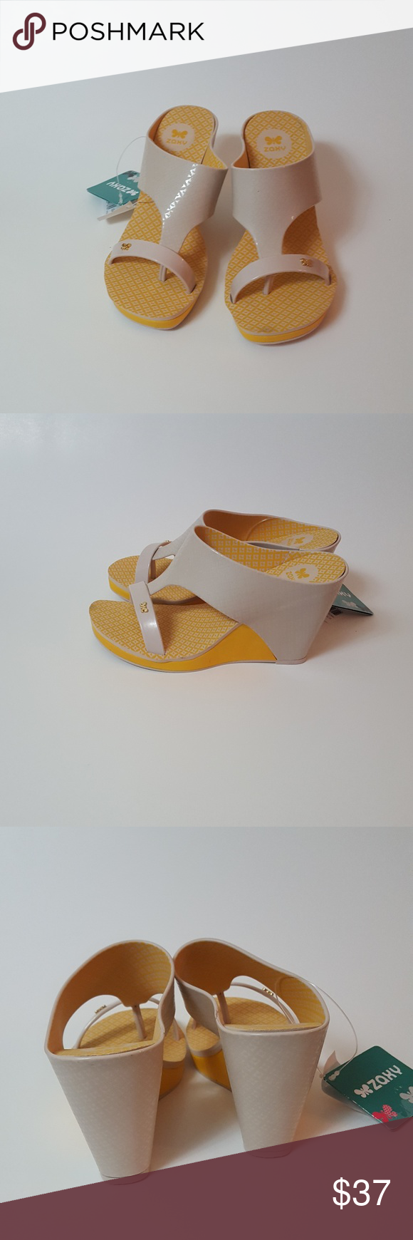 5c96538fd4 Zaxy Glamour Top 2 Wedge Brand new without box. The latest fashion in  moulded plastic