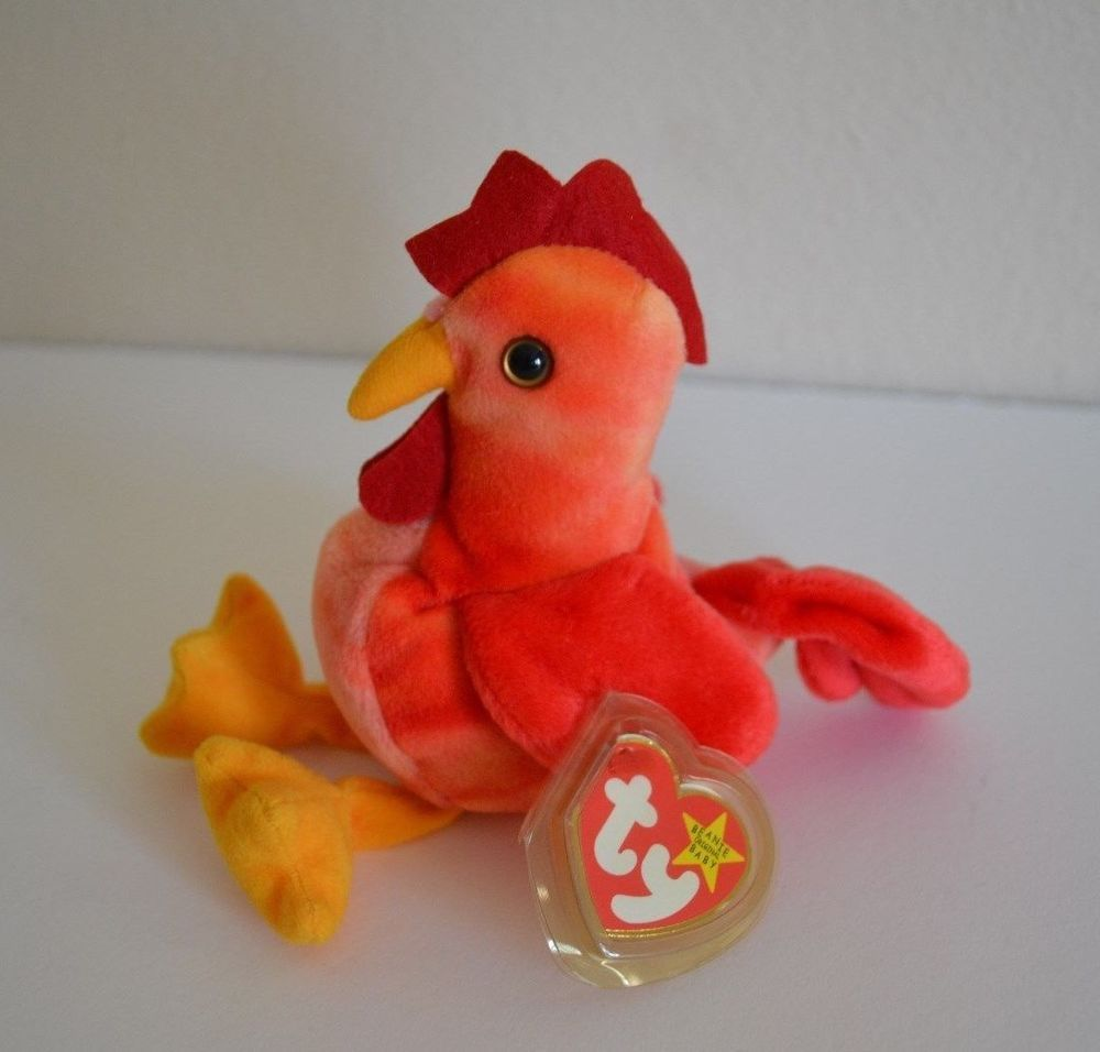 TY Beanie Baby 4th Gen hang tag 6 inch - MWMTs DOODLE the Rooster