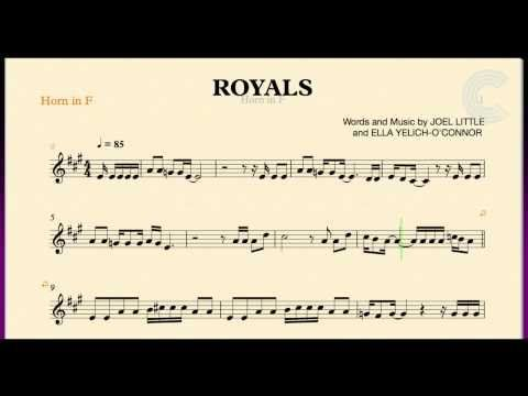 Royals Lorde Horn In F Sheet Music Chords And Vocals French