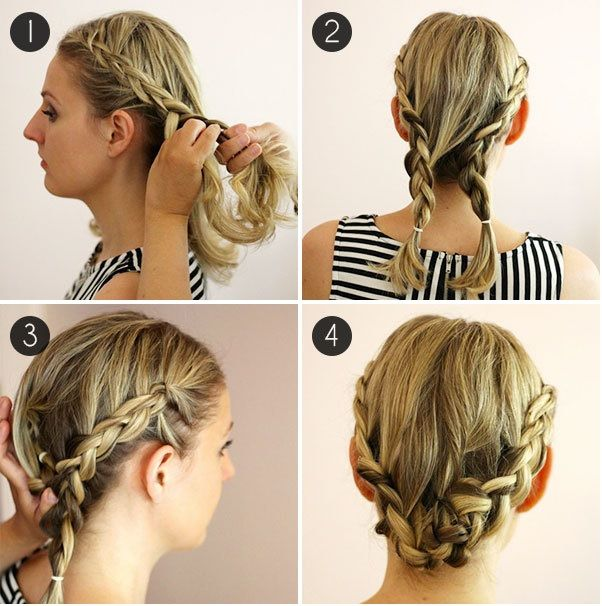 peinados para cabello corto paso a paso | french braid and hair style