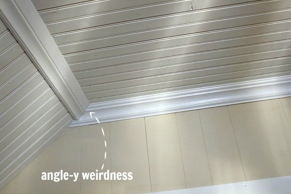 Easy Molding and Trim Work Trick: Figuring Out Tricky Angles for Trim | The Creek Line House