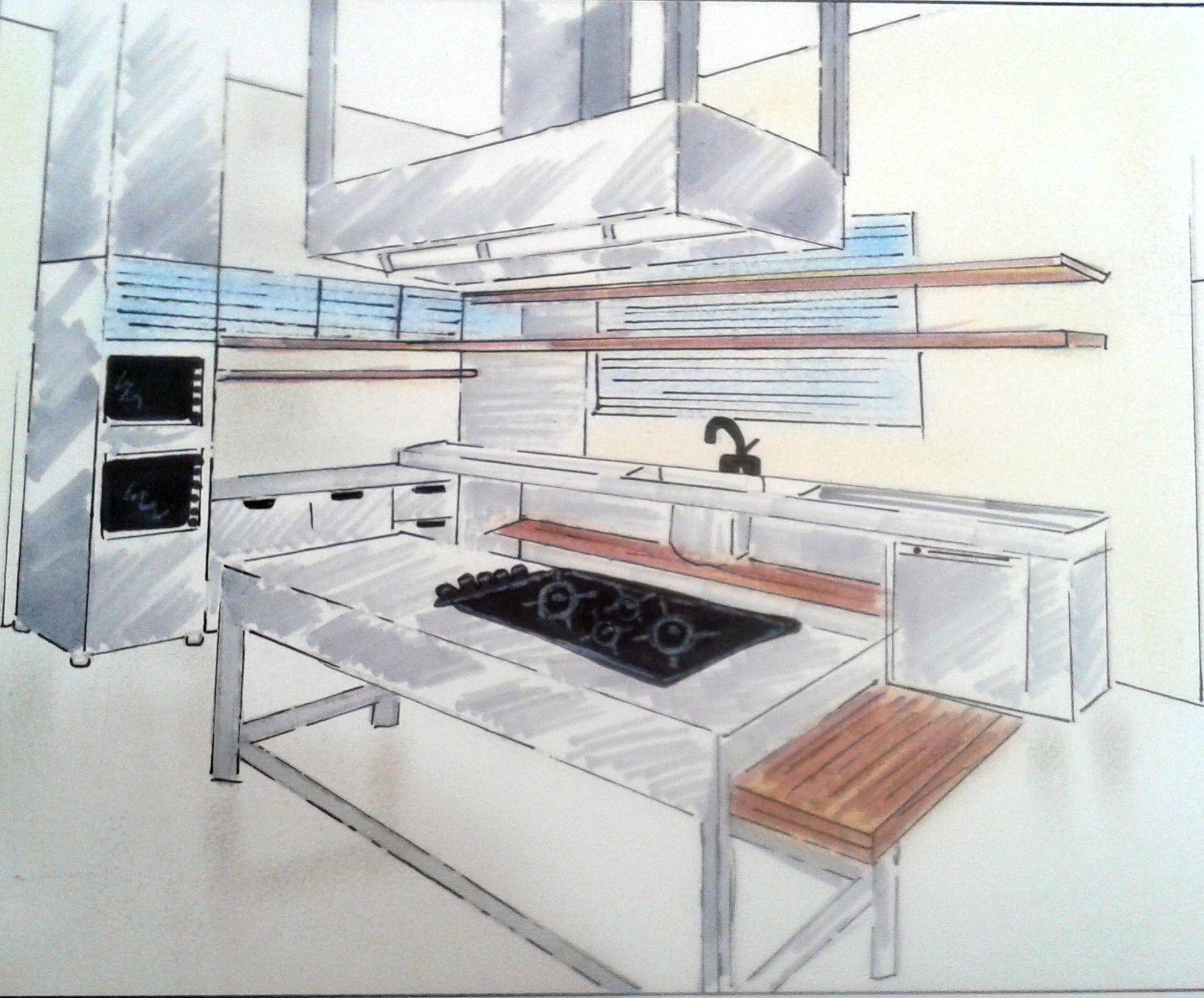 Primeiros passos- Cozinha industrial, com magic color tons de cinza.
