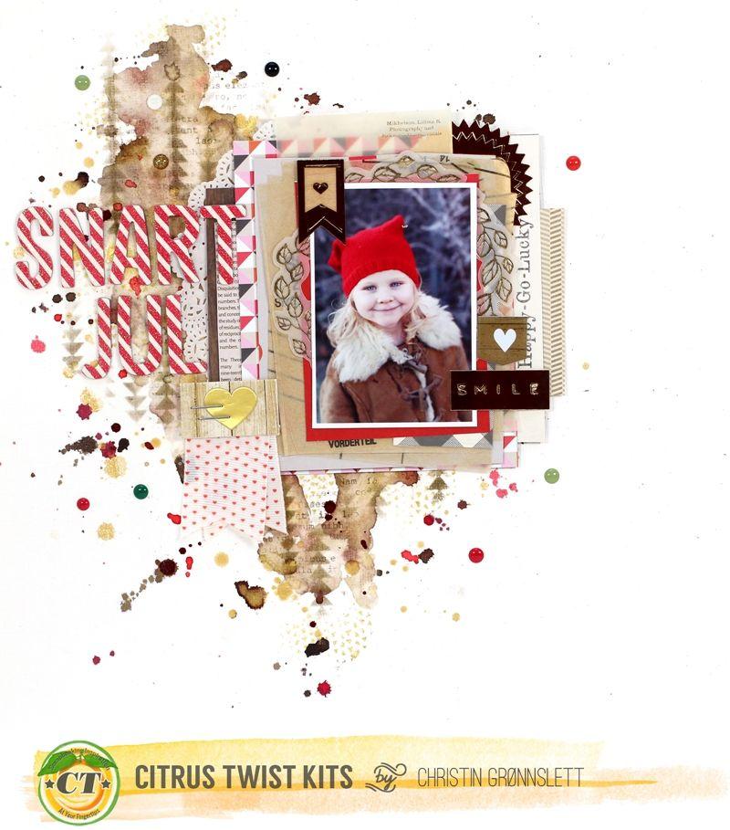 Christin aka Umenorskan scrapper: Citrus Twist Kits - December layouts