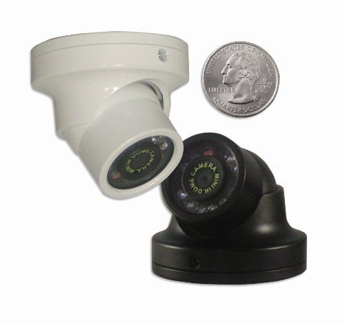 600tvl Indoor Outdoor Mini Weatherproof Vandal Proof Turret Security Camera White By Cpi Outdoor Security Camera Security Camera Wireless Security Cameras