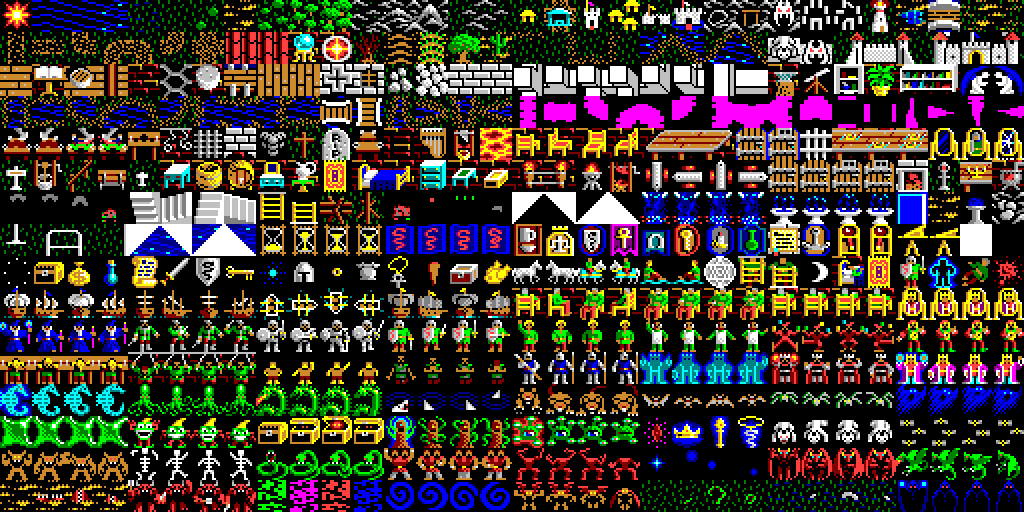 8 Bit City Ultima V Warriors Of Destiny Tileset マップチップ