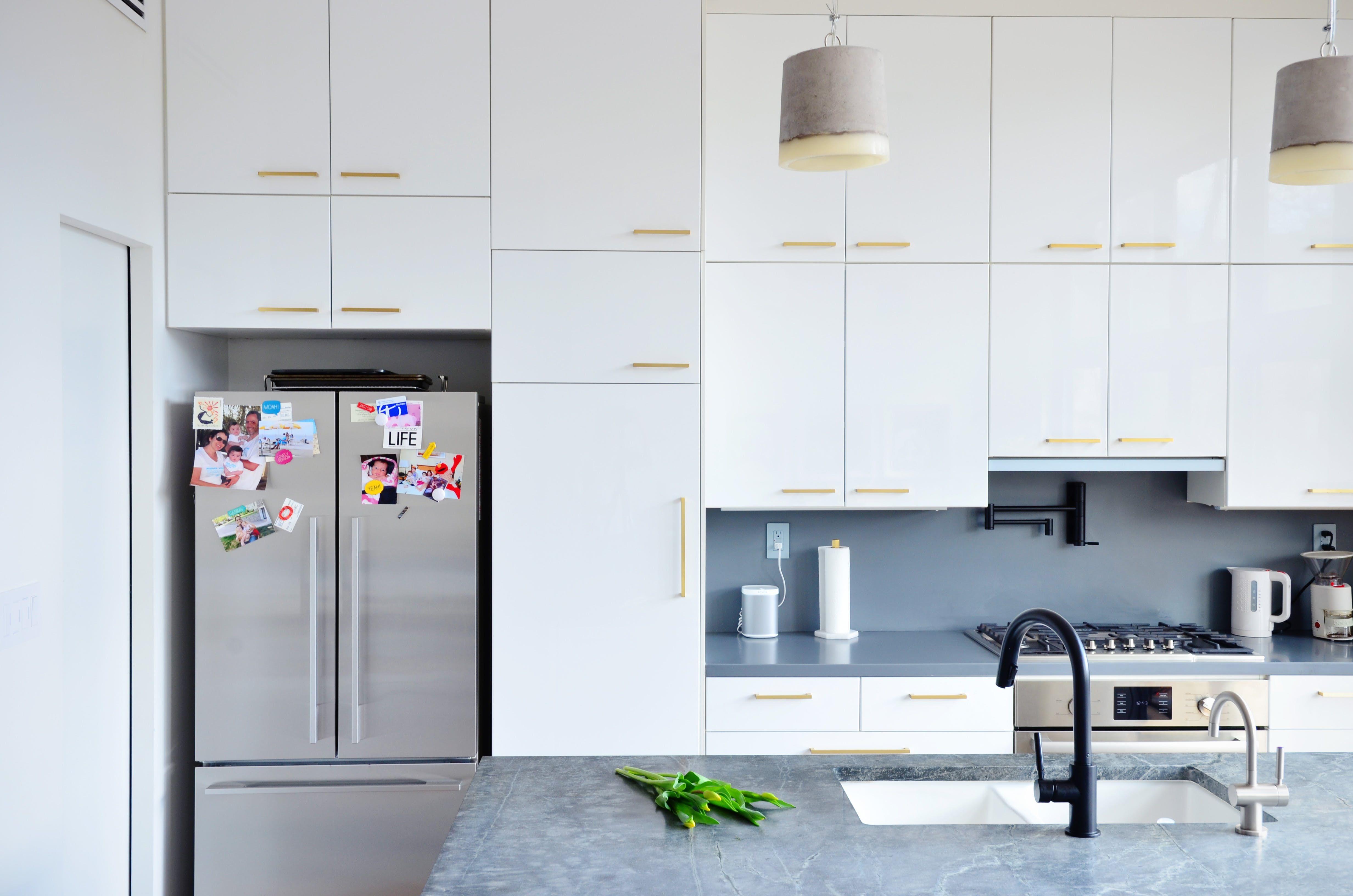 A Jaw Dropping Beautiful Modern Brooklyn Renovation White Ikea Kitchen Kitchen Cabinets Grey And White New Kitchen Cabinets