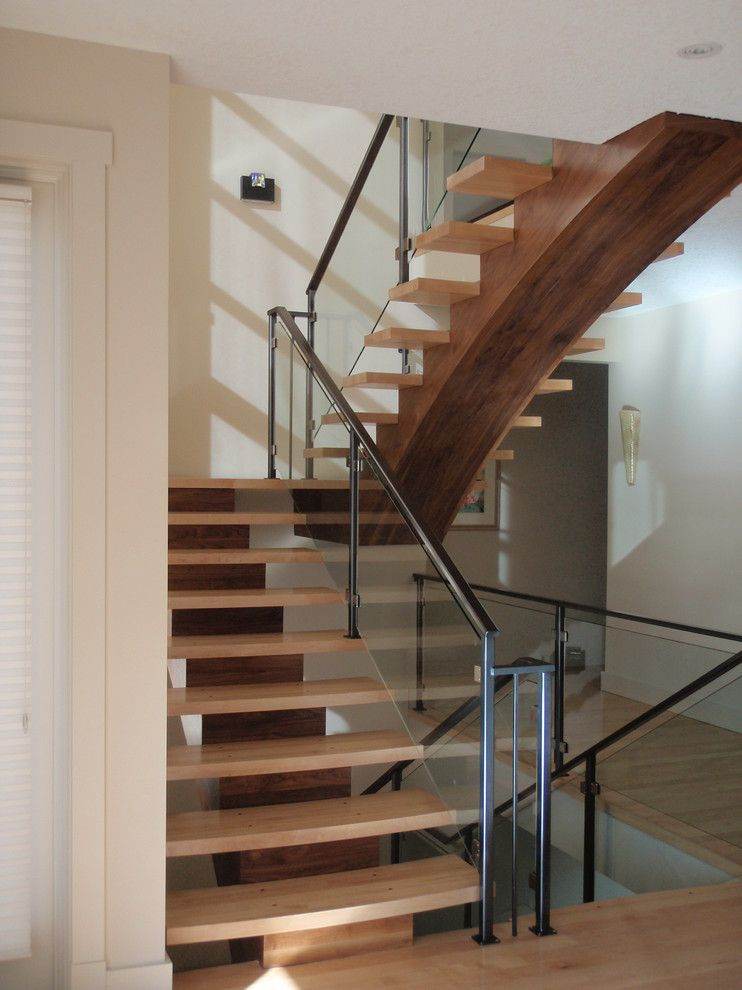 Superb Stair Railing Ideas Staircase Contemporary With Glass Panel Railing Carpet  Tiles