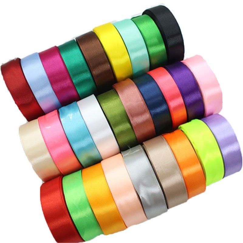 25Yards//Roll Grosgrain Satin Ribbons DIY Bow Craft Wedding Christmas Party Decor