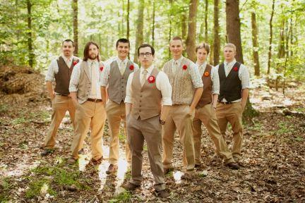 Shabby Chic Wedding Men