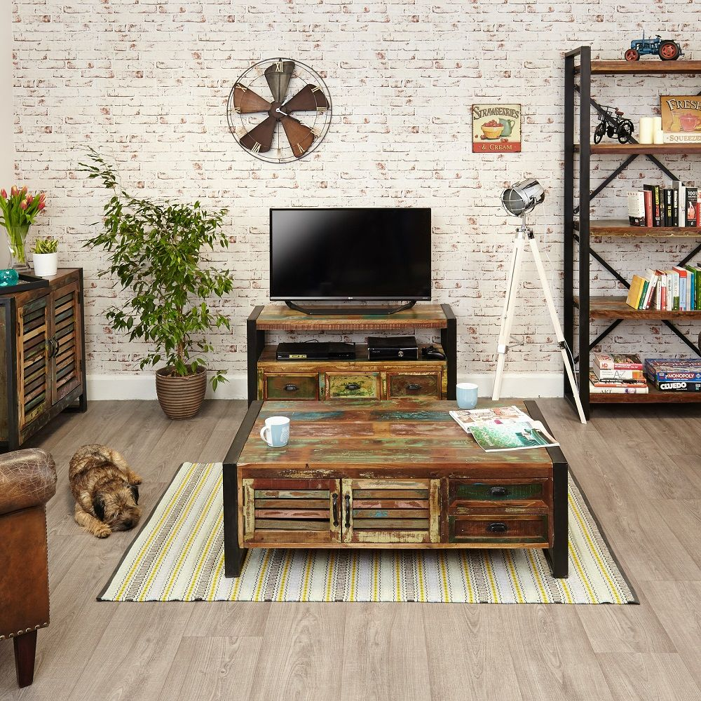 Our Fabulous Urban Chic Furniture Range Is Crafted From Reclaimed Wood,  Salvaged From Old Buildings