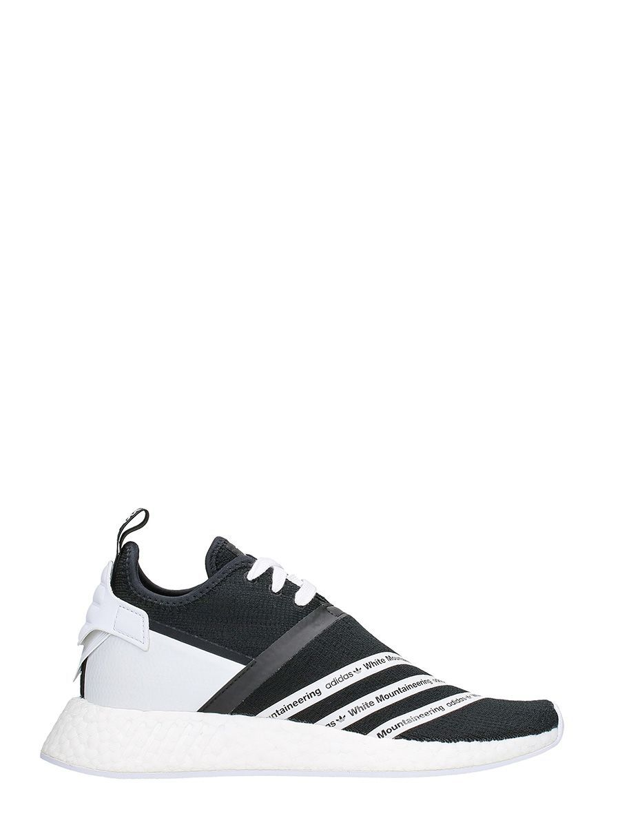 427a5f8030295 ADIDAS X WHITE MOUNTAINEERING NMD R2 TECHNICAL FABRIC BLACK SNEAKERS.   adidasxwhitemountaineering  shoes