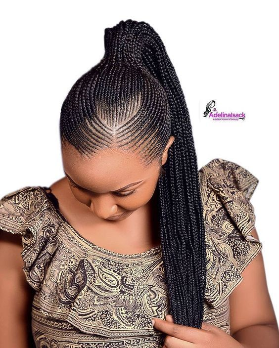 Check Out For Latest Ghana Weaving Styles 2019 Latest Ghana Weaving Shuku Styles 2 African Hair Braiding Styles African Braids Hairstyles African Braids Styles