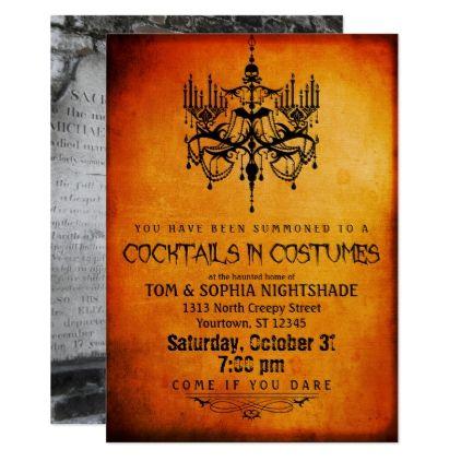 Halloween chandelier custom photo party card halloween halloween chandelier custom photo party card halloween happyhalloween festival stopboris Choice Image
