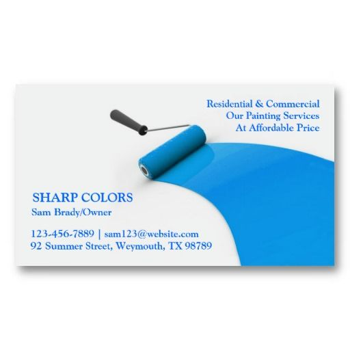 Painting Business Card Zazzle Com Painter Business Card Business Cards Blue Business Card