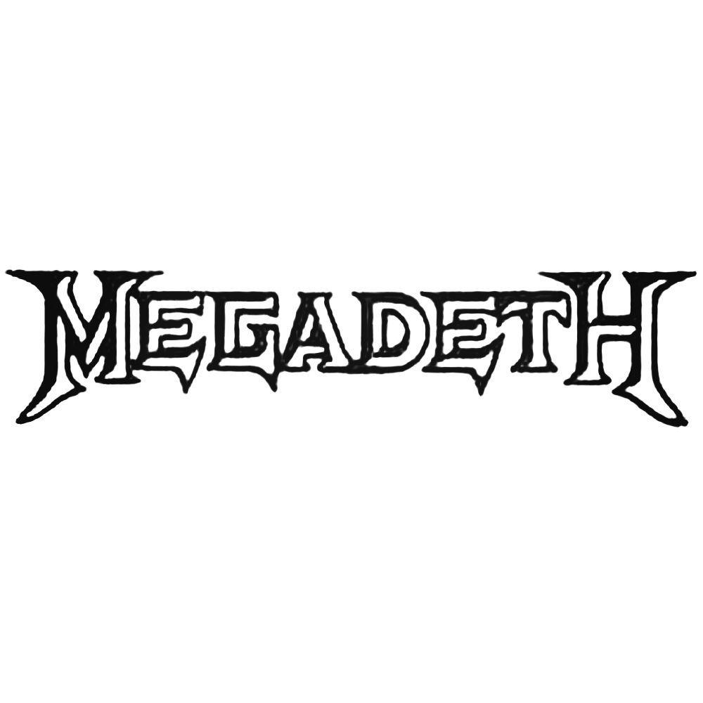 megadeth logo vinyl decal band logo vinyl decal