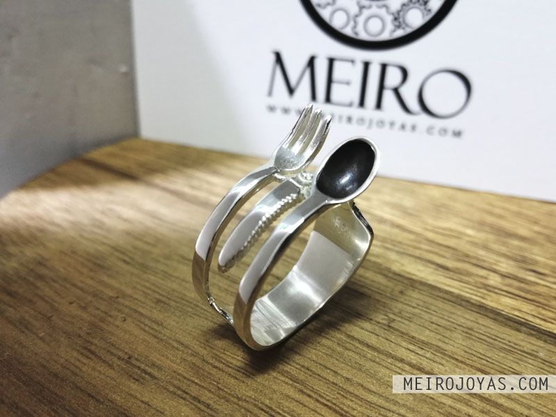 Kitchen Ring Sterling Silver Anillo Cocina Plata 925 In 2020 Silver Sterling Silver Rings Sterling Silver