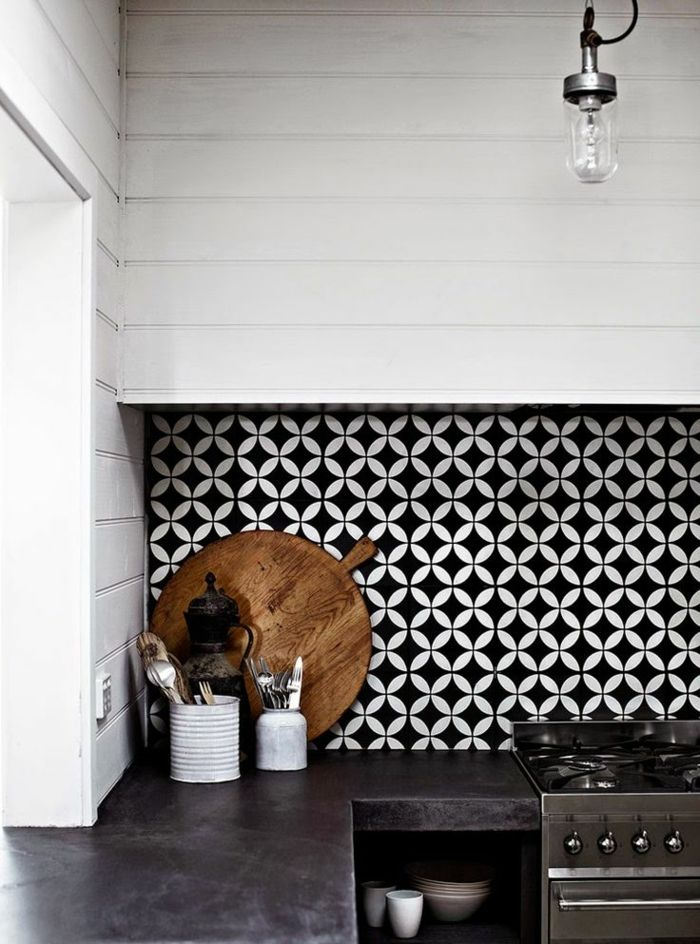 vous cherchez des ides pour un carrelage noir et blanc on vous les prsente en 45 photos - Cuisine Carrelage Noir Et Blanc