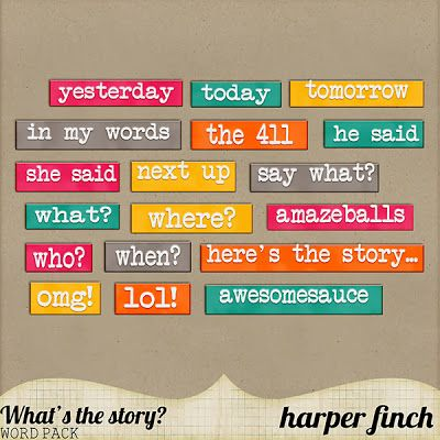 Scrapbooking TammyTags -- TT - Designer - Harper Finch, TT - Item - Word Art