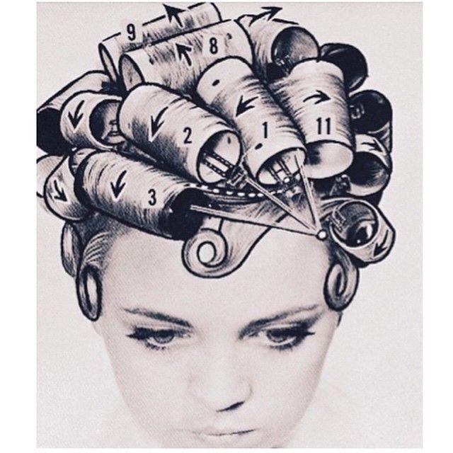 Como poner rulos en un pelo corto