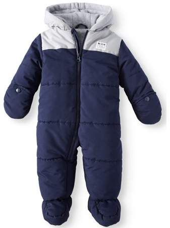 c8e1be6a3 Carter's Child of Mine by Hooded Puffer Snowsuit Pram (Baby Boys ...