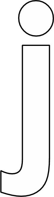kleurplaten letter j