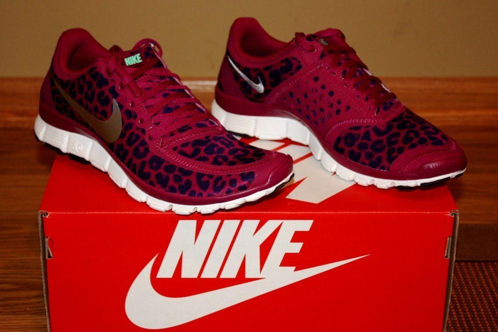601a6008b26f ... womens nike free 5.0 v4 raspberry metallic silver cheetah leopard size  8.5 nike runningcrosstraining