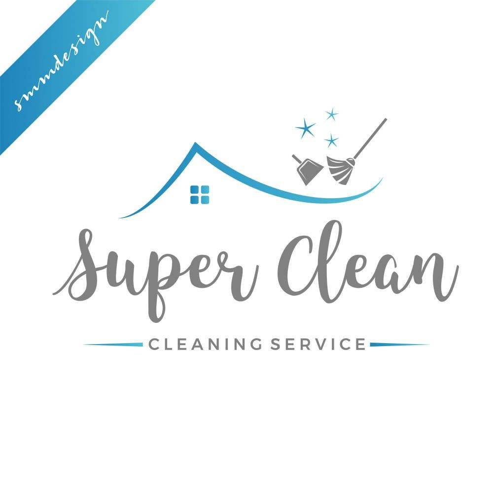 Cleaning Logo Design 158 Etsy In 2021 Cleaning Logo Cleaning Service Cleaning Service Logo