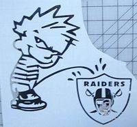 Oakland raiders getting pee on