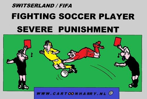 Funny Soccer Cartoons Cartoon Fighting Soccer Player Medium By Cartoonharry Tagged Soccer Players Soccer Funny Soccer