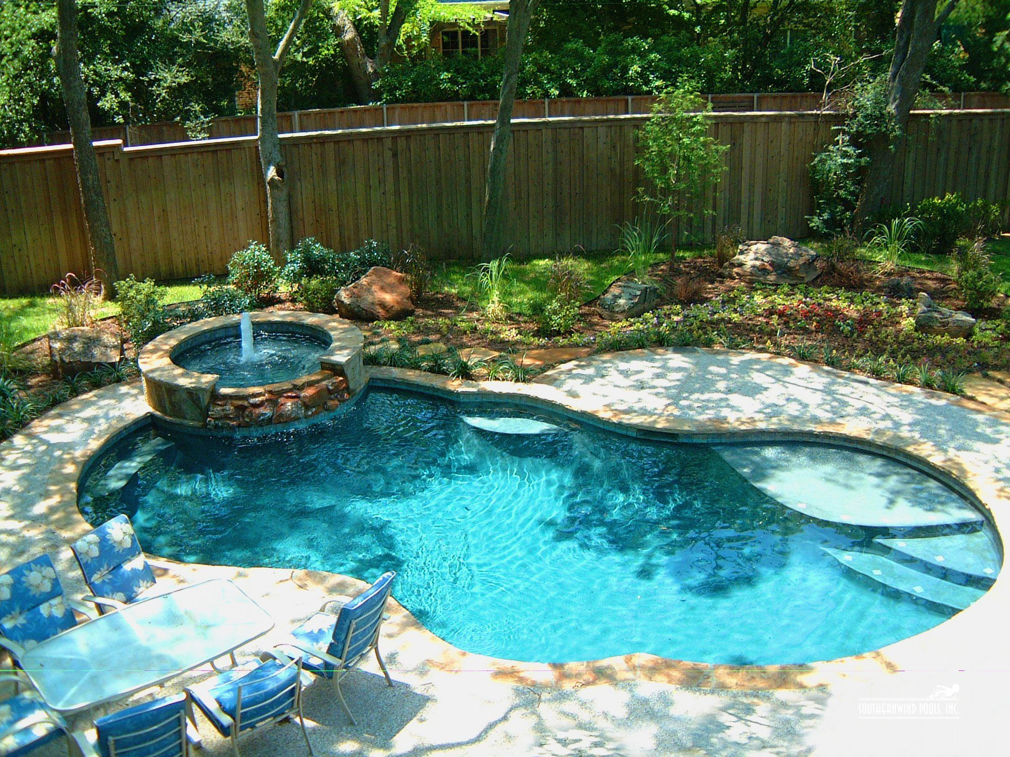 Rustic Landscaping With Pools - Landscape Design  Chesterfield, Mo
