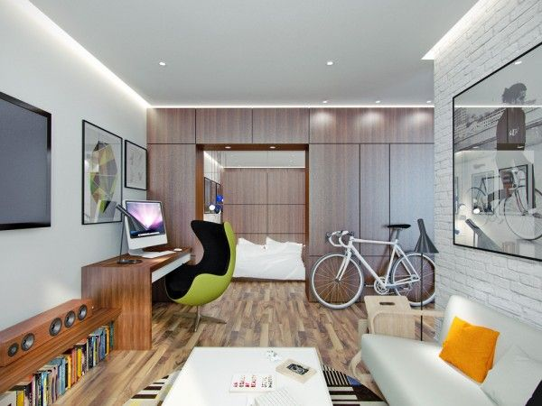 living small with style: 2 beautiful small apartment plans under