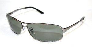 62ff3d364c Ray Ban Sunglasses RB 3343 004/58 Gunmetal/Polarized Crystal Green, 63mm
