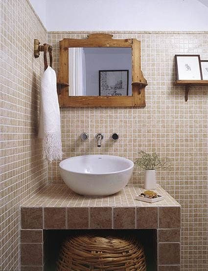 Muebles de obra para baños pequeños | Baño, Baño pequeño y Baños