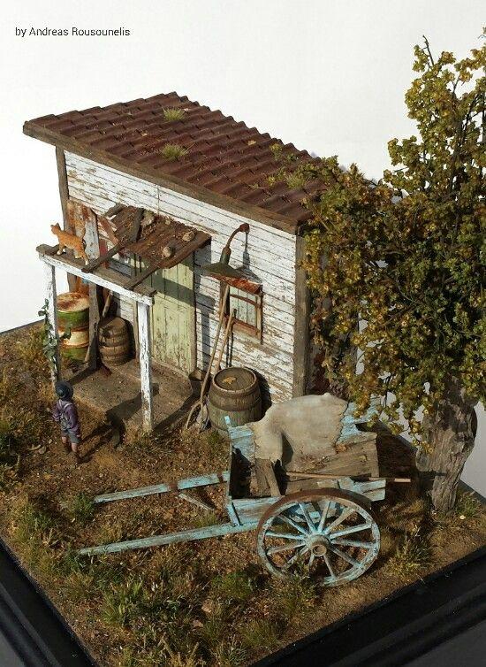 The Storage 1 32 Scale Dolls House Shop Model Train Scenery Miniature Model