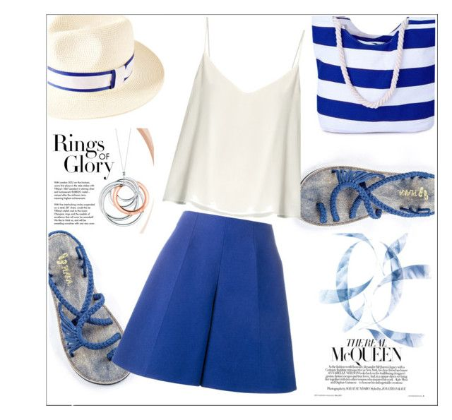 """""""Plaka sandals"""" by ernahs ❤ liked on Polyvore featuring Tiffany & Co., Raey and Delpozo"""